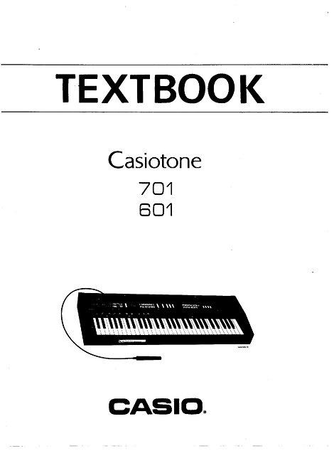 Casiotone 601 / 701 Training Guide
