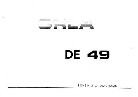 DE49 Schematic Diagrams