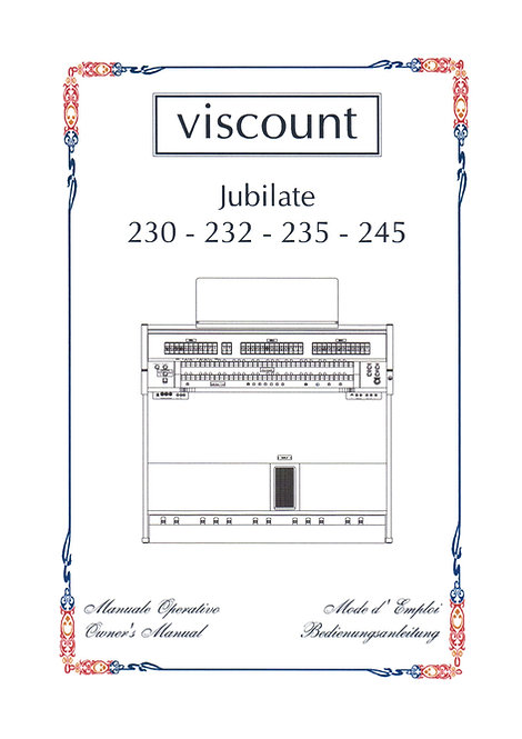 Jubilate 230 - 232 - 235 - 245 Owners Manual