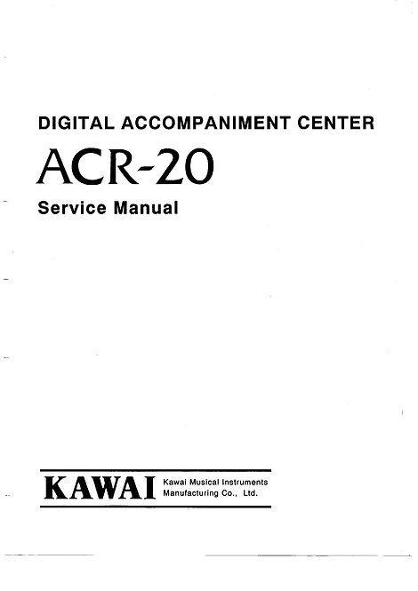 ACR-20 Service Manual