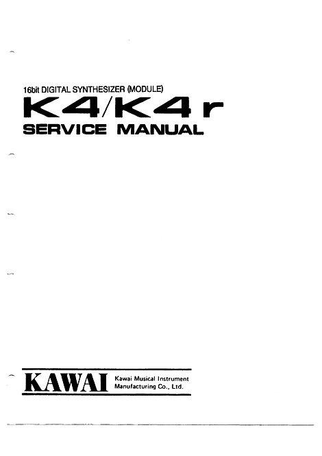 K4 / K4r Service Manual