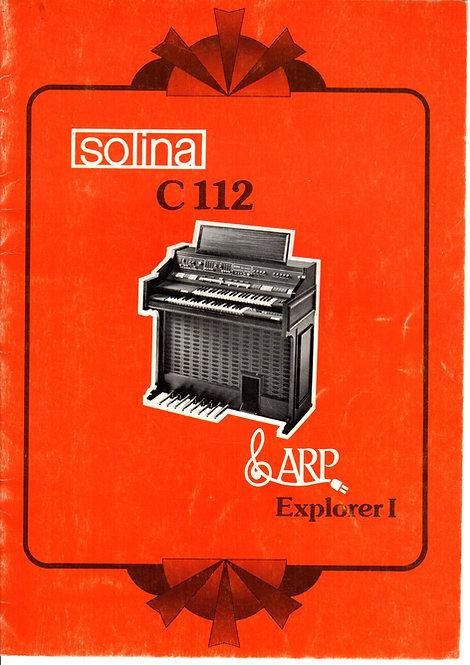 Solina C112 Owners Manual