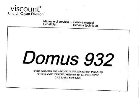 Domus 932 / Princeton 993 Service Manual