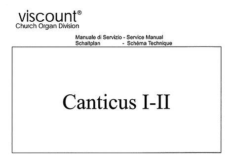 Canticus I-II Service Manual
