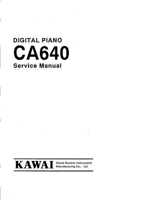 CA640 Service Manual