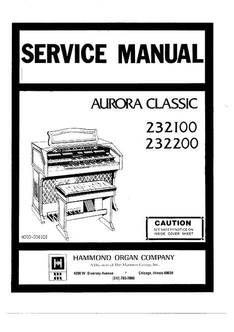 232100 / 232200 Aurora Classic Service Manual