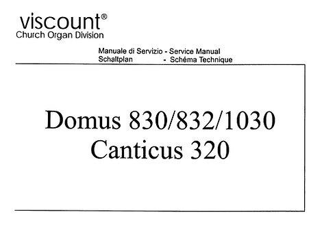 Domus 830 / 832 / 1030 Canticus 320