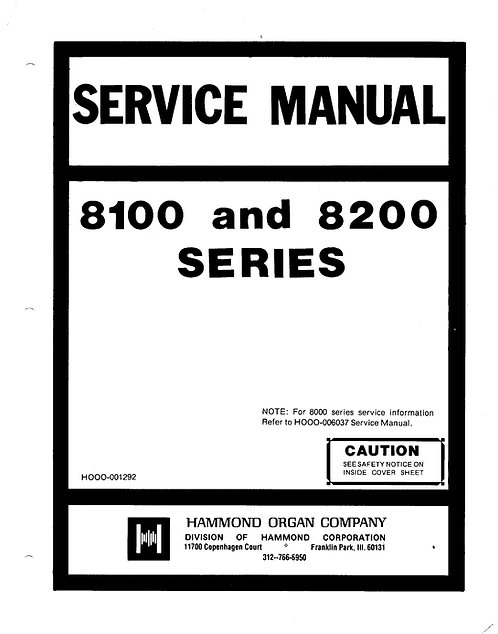 8100 - 8200 Series Service Manual