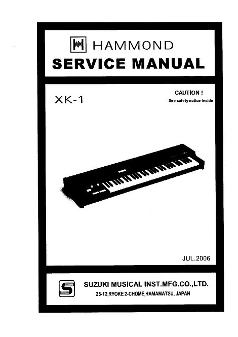 XK-1 Service Manual