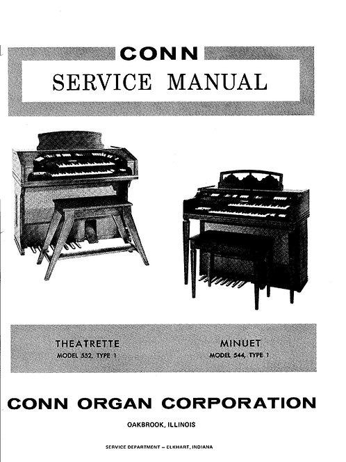 Theatrette 552 - Minuet 554 Service Manual
