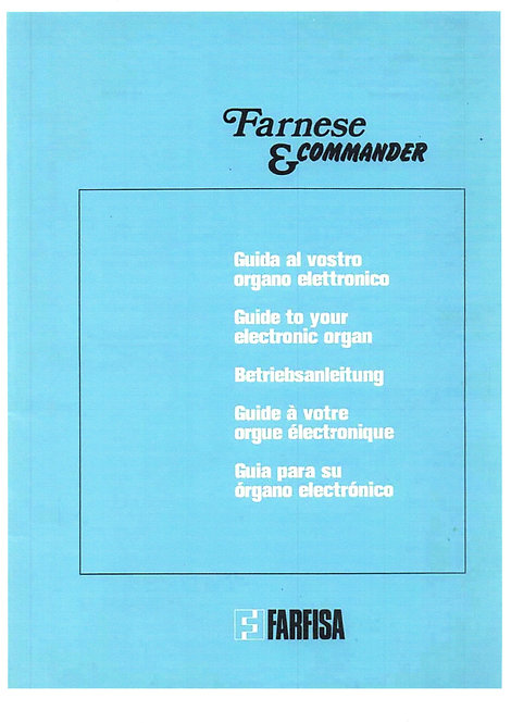 Farnese & Commander Owners Manual