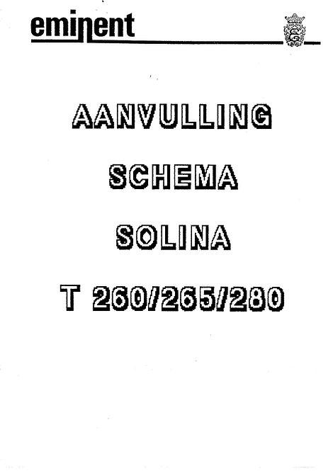 T260 / T265 / T280 Schematics