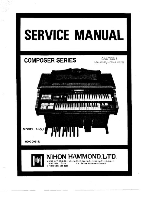 Composer Series 140J - 142J - 144J - 146J Service Manual