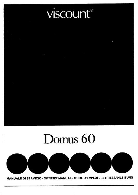 Domus 60 Owners Manual