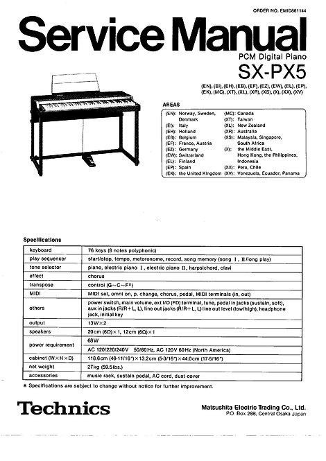 PX5 Service Manual
