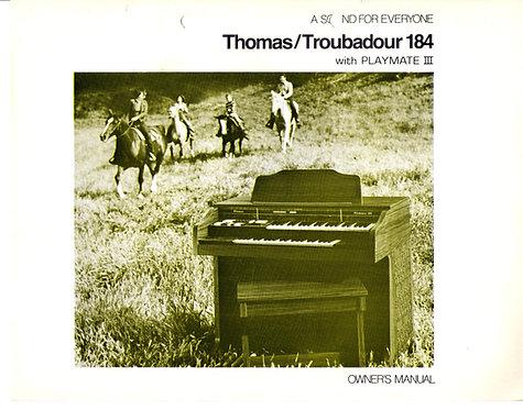 Troubadour 184 Owners Manual