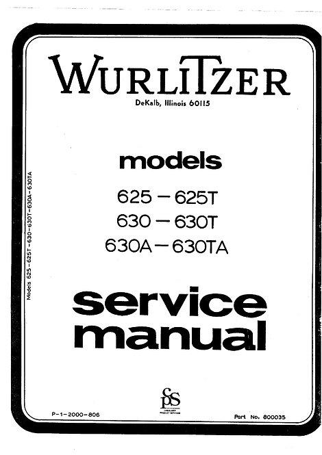 625 - 625T - 630 - 630T - 630A - 630TA Service Manual