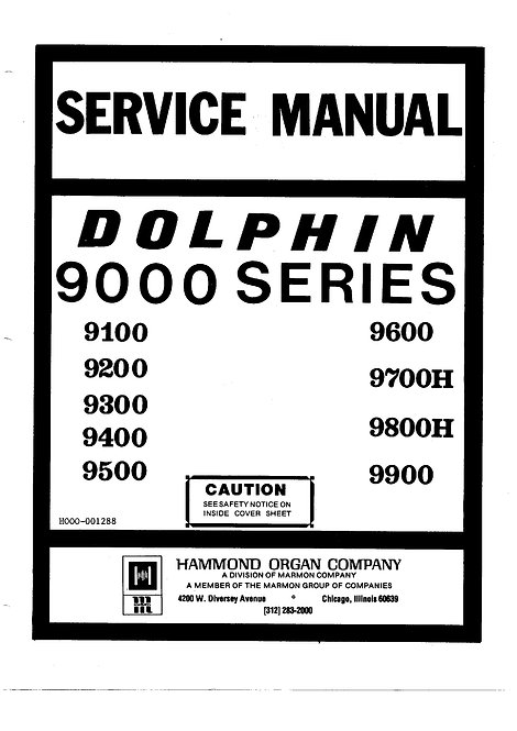 Dolphin 9000 Series Service Manual