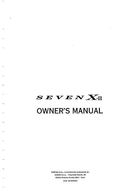 Seven X-II Owners Manual