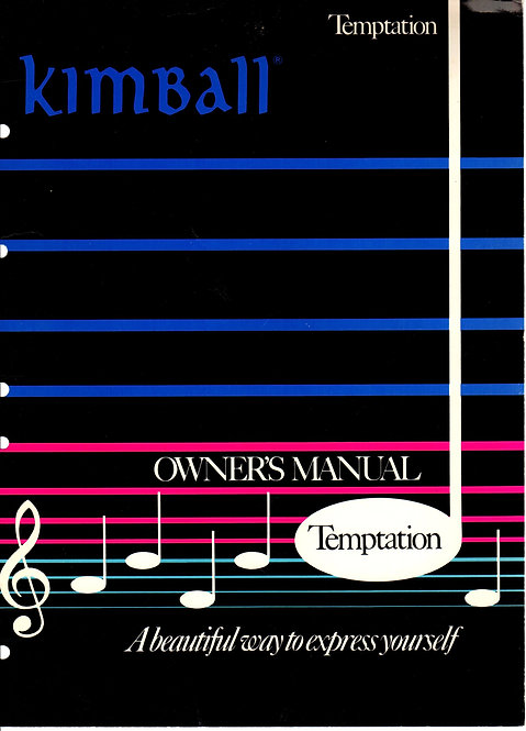 Temptation Owners Manual