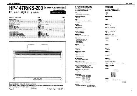 HP147 / KS200 Service Notes