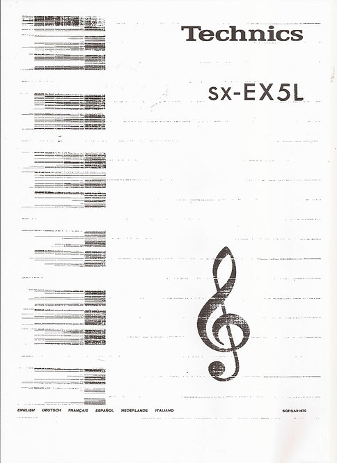 EX5L Owners manual