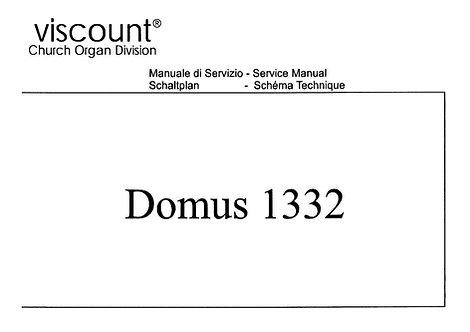 Domus 1332 Service Manual
