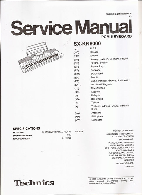 KN6000 Service Manual