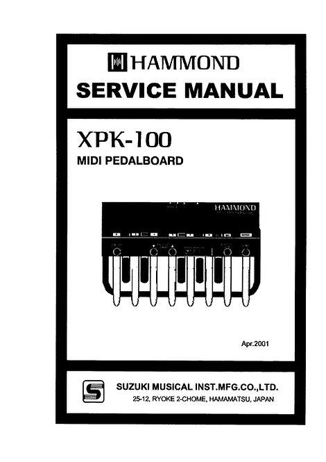 XPK-100 Service Manual