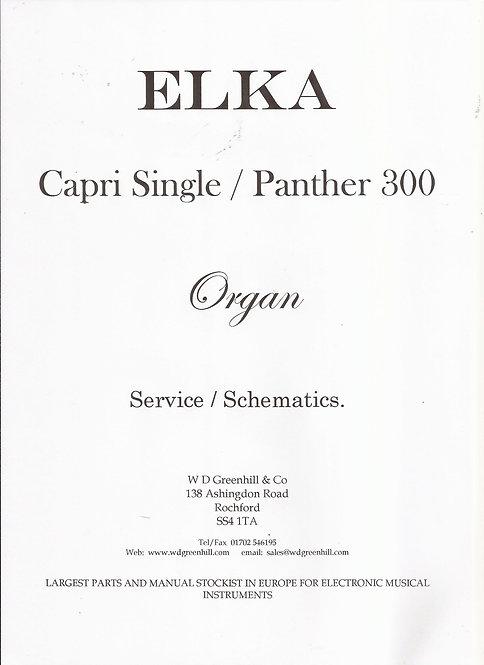 Capri Single / Panther 300 Service Manual