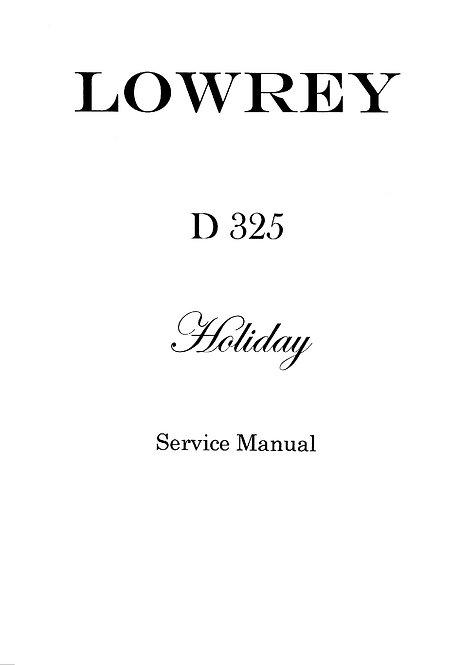 D325 Holiday Service Manual