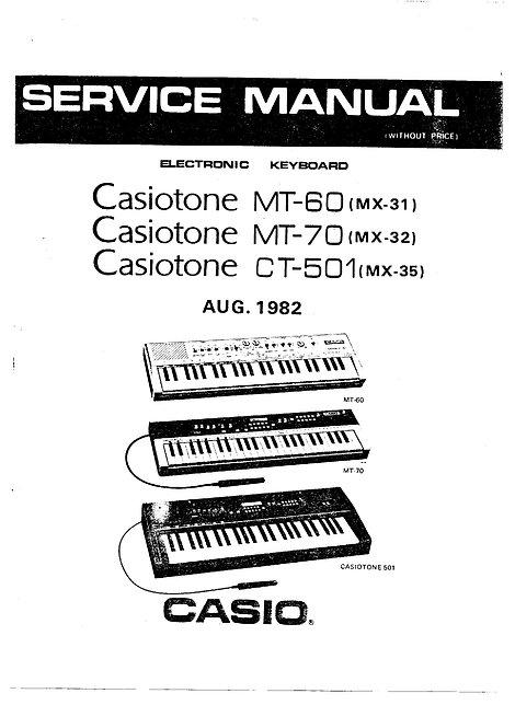 MT-60 MT-70 CT-501 Service Manual