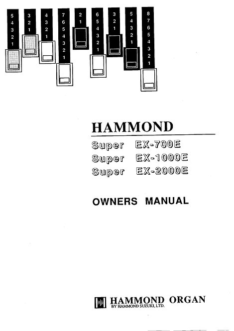 Super EX-700E / EX-1000E / EX-2000E Owners Manual