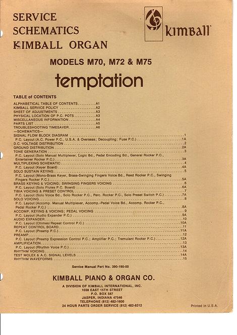 M70 - M72 & M75 Temptation Service Schematics