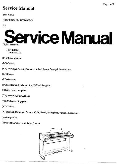 PR603 Service Manual
