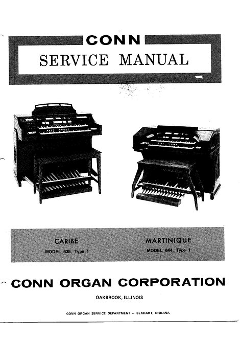 635 Caribe / 644 Martinique Service Manual