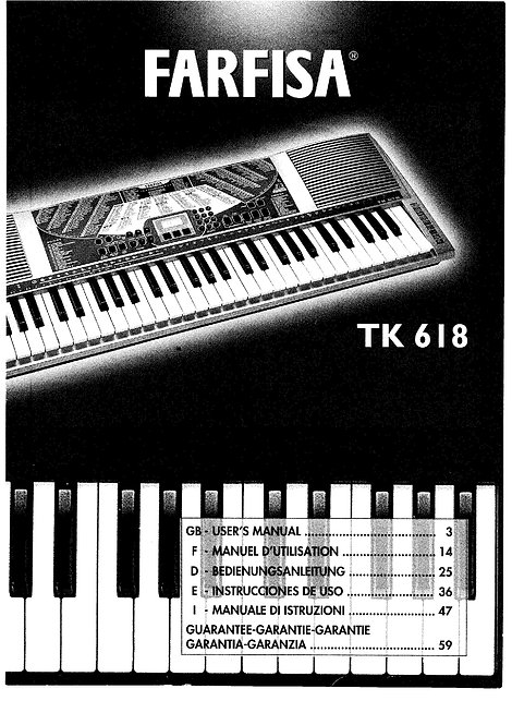 TK618 Keyboard Owners Manual