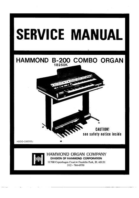 B200 Service Manual