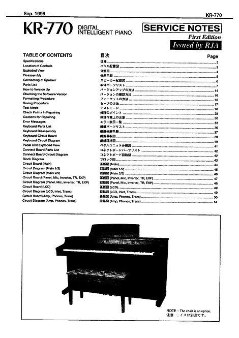 KR-770 Service Manual