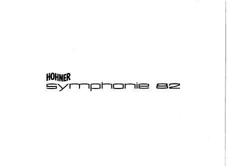 Symphonie 82 Service Manual