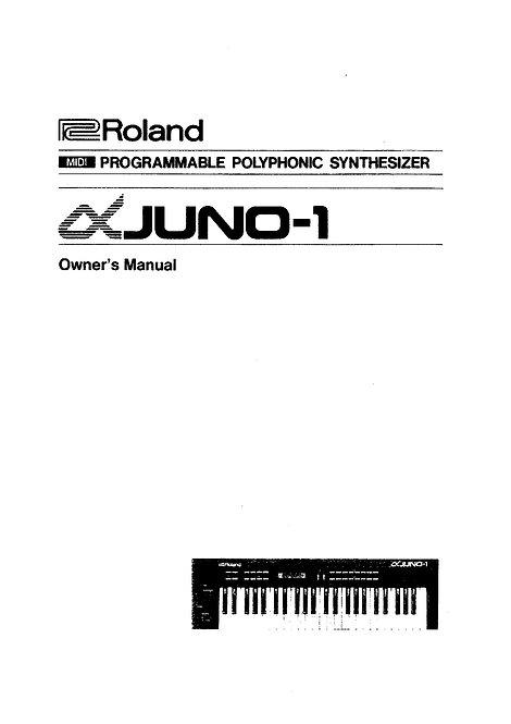 Juno-1 Owners Manual