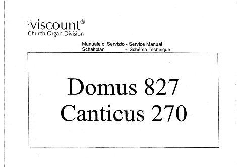 Domus 827 / Canticus 270 Service Manual
