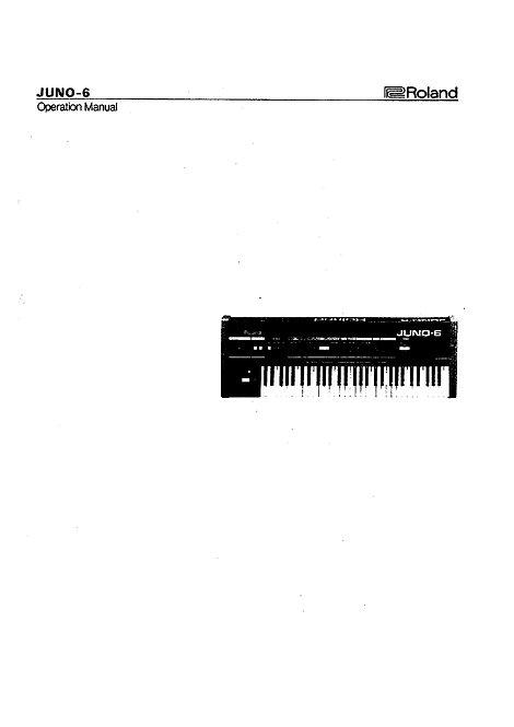 Juno-6 Owners Manual