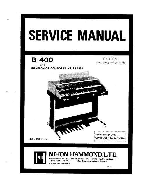 B400 Service Manual