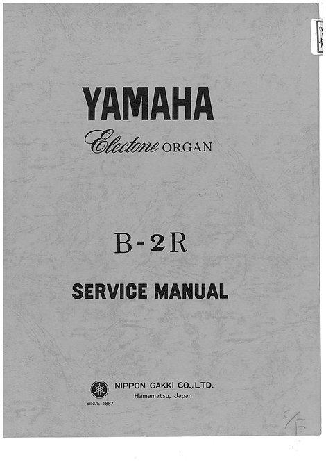 B-2R Electone Organ Service Manual