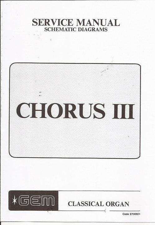 Chorus III Service Manual