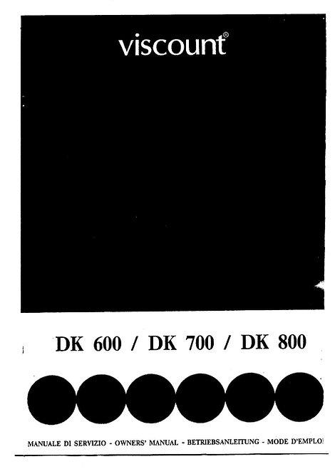 DK600 / DK700 / DK800 Owners Manual