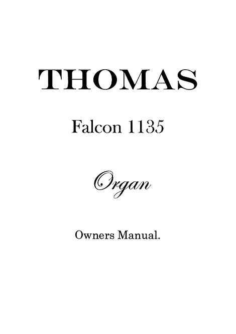 1135 Falcon Owners Manual