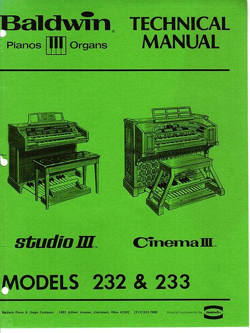 232 Studio III / 233 Cinema III Service Manual