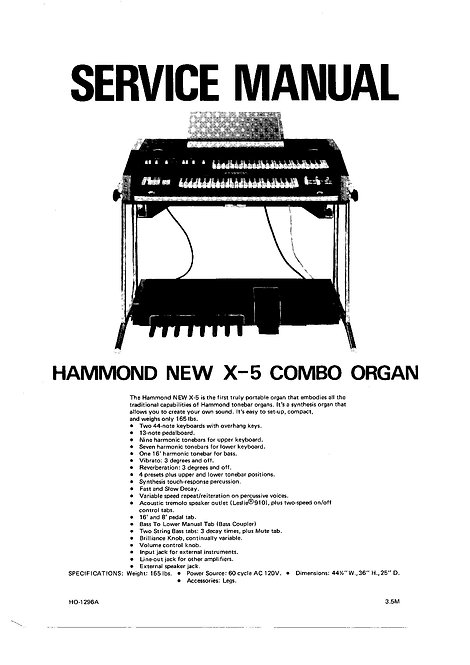 X-5 Service Manual  (new & old Versions)